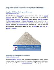 Supplier of Talc Powder low prices Indonesia