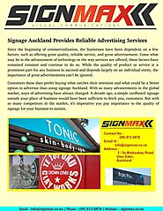 Signage auckland provides reliable advertising services
