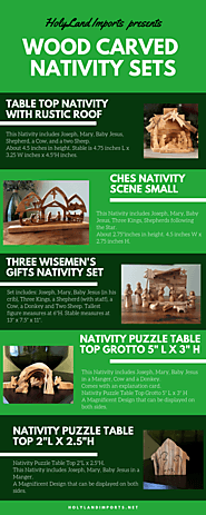 Wood Carved Nativity Sets