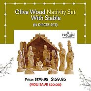 Hand Carved Nativity Set