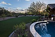 Modern design landscape in Arizona