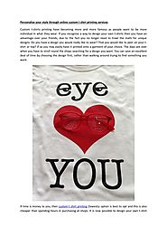 Personalise your style through online custom t shirt printing services