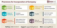 Provisions to be complied with while Incorporation of Company