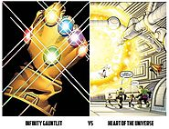 What is more powerful: The Infinity Gauntlet or the Heart of the Universe?