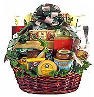 Group Therapy - Premium Gourmet Food Gift Basket - Meat, Cheese, Nuts, Smoked Salmon, Dried Fruit, Chocolate, Cookies...