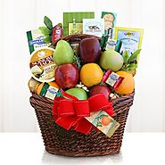Natures Bounty Fresh Fruit Holiday Festival Gift Basket