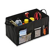 Honey-Can-Do SFT-01166 Black Folding Trunk Organizer, Black