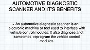 Benefits Of Diagnostic Scan Tool