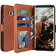 Galaxy S8 Plus Case, LK Luxury PU Leather Wallet Flip Protective Case Cover with Card Slots and Stand for Samsung Gal...