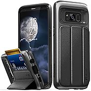 Galaxy S8 Wallet Case, Vena [vCommute][Military Grade Drop Protection] Flip Leather Cover Card Slot Holder with KickS...