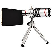 Camera Lens, elecguru Universal 18x Universal Optical Telescope Mobile Lens For Phone Samsung HTC 18X Lens with tripo...