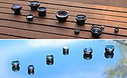 AUKEY Optic iPhone Lens, 180° Fisheye Lens + 110° Wide Angle + 10x Macro Mini Clip-on Cell Phone Camera Lenses Kit fo...