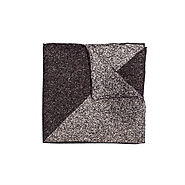Pocket Square (Gray & Black ) - 100% Silk