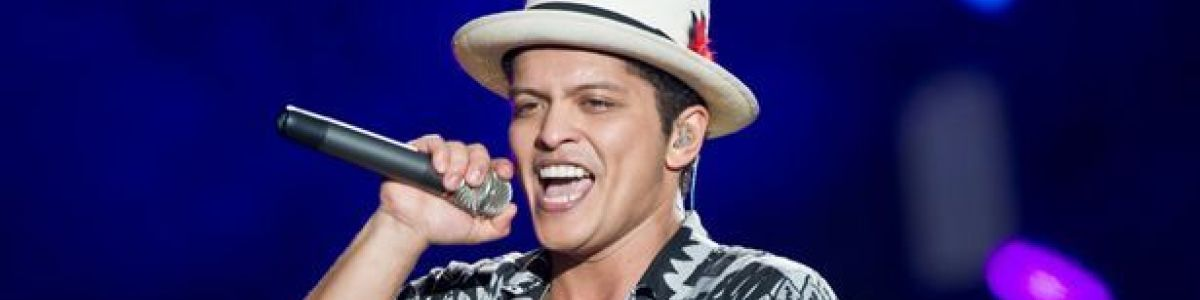 Headline for Top 15 songs by Bruno Mars
