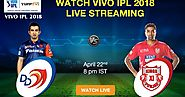 Watch KXIP vs DD IPL 2018 Live on YuppTV