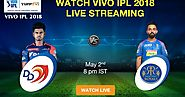 Watch DD vs RR IPL 2018 Live on YuppTV