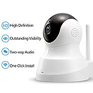 TENVIS HD IP Camera - Wireless IP Camera with Two-way Audio, Night Vision Camera, 2.4GHz & 720P Camera for Pet Baby M...