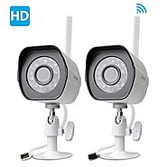 Zmodo 720p HD Outdoor Home Wifi Security Surveillance Video Cameras System (2 Pack)