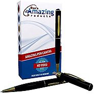 Amazing Pen Camera(TM) - Premium HD DVR - Built In 8GB Memory and Digital 720p Lens. A Fun Hidden Camera Gadget. Easy...