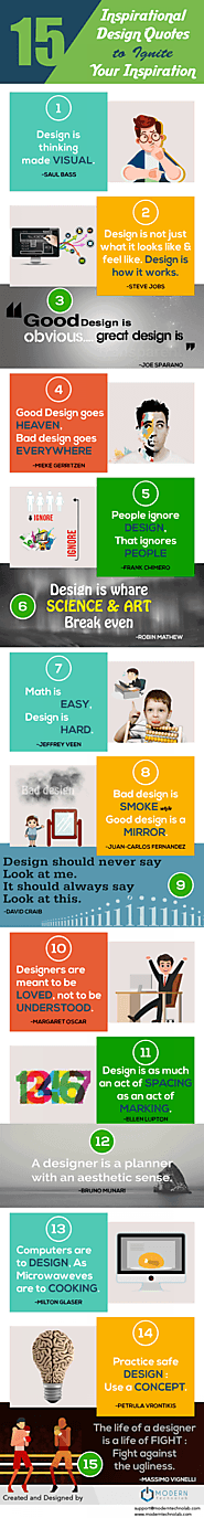 15 Inspirational Design Quotes To Ignite Your Inspiration [Infographic]