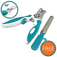 Rosmax Dog Nail Clippers and Trimmer - With Quick Safety Guard to Avoid Overcutting - Sturdy Non Slip Handles - For S...
