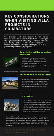 Key Considerations When Visiting Villa Projects in Coimbatore