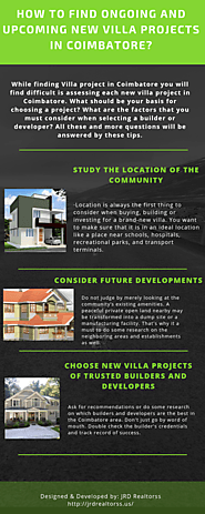 How to Find Ongoing and Upcoming New Villa Projects in Coimbatore?