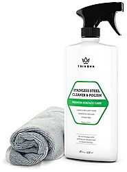 Stainless Steel Cleaner and Polish with Microfiber Cleaning Cloth. Cleaning Spray for Appliances, Fridge, Microwave O...