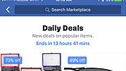 Facebook tests showing eBay Daily Deals in Marketplace