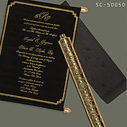 BLACK VELVET WEDDING INVITATIONS - 123WeddingCards