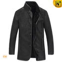 Black Sheepskin Jacket for Men CW877011