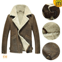 Sheepskin B-3 Flight Jacket for Men CW878397