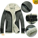 Sheepskin Bomber Jacket for Men CW877063
