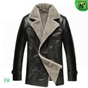 Leather Shearling Coats for Men CW878418