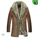 Mens Raccoon Fur Sheepskin Coat CW868565