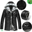 Mens Sheepskin Jacket Black CW848366