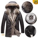 Sheepskin Raccoon Fur Coat Men CW877159