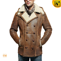 Shearling Lined Sheepskin Coat Men CW878159