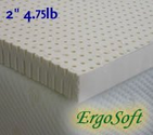 2 Inch ErgoSoft Natural Latex Foam Mattress Pad Topper, Queen
