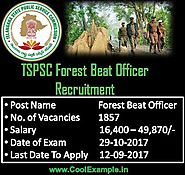 TSPSC Forest Beat Officer Recruitment 2017 | Online Applications 1857 Posts Notification