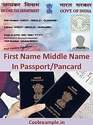 Surname Example Meaning First Name Middle Name In Passport/Pancard