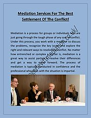 Mediation services for the best settlement of the conflict!
