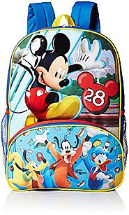 Disney Boys' Mickey Mouse Backpack, Blue