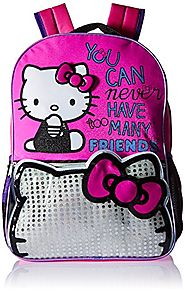 "Hello Kitty Too Many Friends 16"" Backpack, Pink"