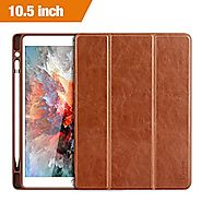 iPad Pro 10.5 Case, Benuo [Vintage Series] Folio Flip Leather Case w/ Build-in Apple Pencil Holder and Stand Feature,...