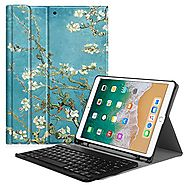 Fintie iPad Pro 10.5 Keyboard Case with Built-in Apple Pencil Holder - SlimShell Protective Cover with Magnetically D...