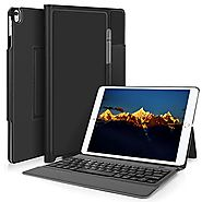KuGi ipad pro 10.5 keyboard case, Lightweight Stand Portfolio Case with Bluetooth Keyboard cover case + Pencil holder...