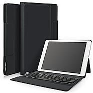 IVSO Apple ipad pro 12.9 Case With Keyboard Ultra-Thin One-piece Bluetooth Keyboard Stand Case / Cover + Pencil Holde...