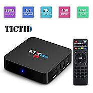 TICTID MX Pro Amlogic S905X Chipset Android 5.1 TV Box Lollipop OS Quad Core 1G/8G 4K Google Smart TV Box with WiFi, ...