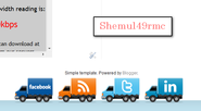 How To Add New Moving Social Truck Icons In Blogger or WordPress